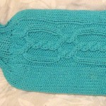 Cabled Hot Water Bottle Cosy